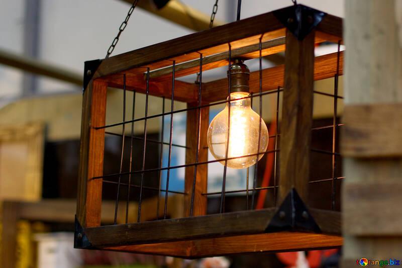 Vintage lamp cage №47071