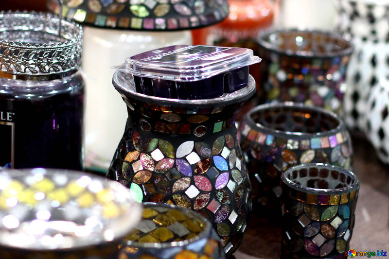 Stained glass vases №47047