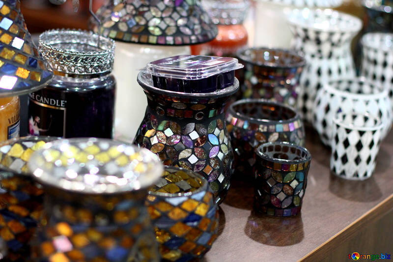 Stained glass vases №47048