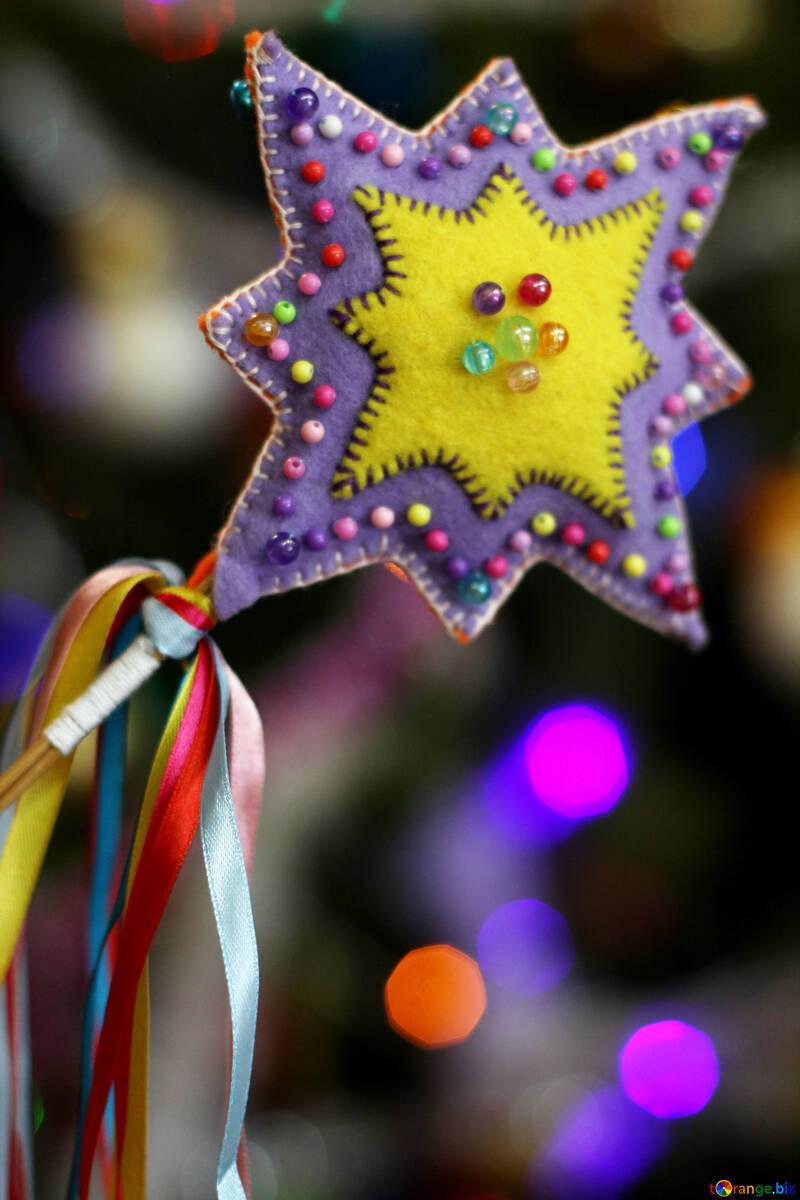 Рождественская звезда ручная работа украшение №47952