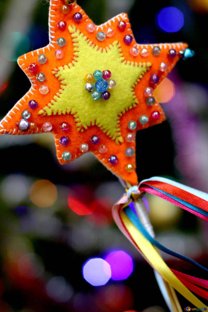 Christmas star decoration handmade №47953