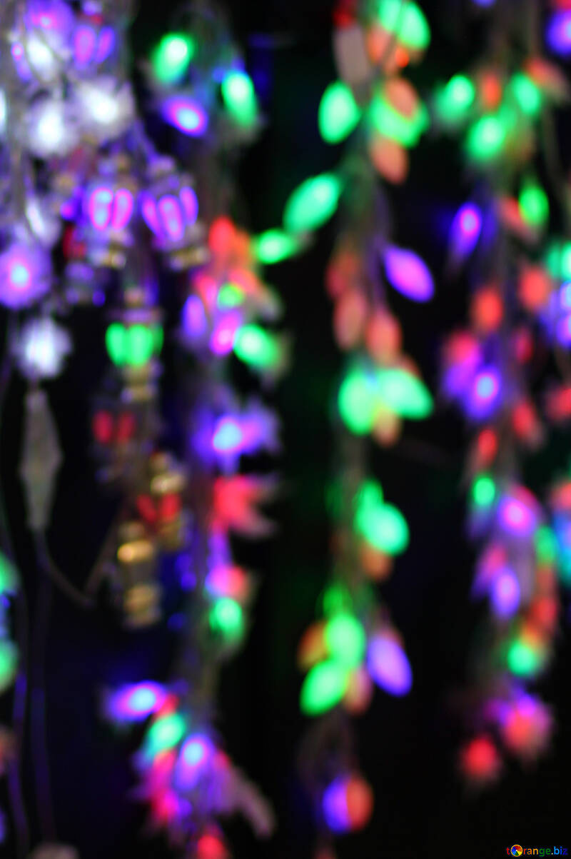 Colored Lights Christmas Light Background