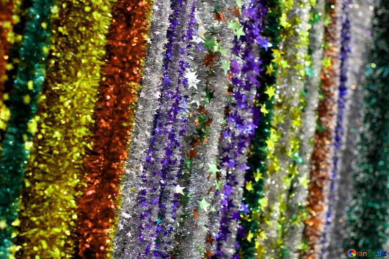 Texture de fond de guirlandes de Noël №47882