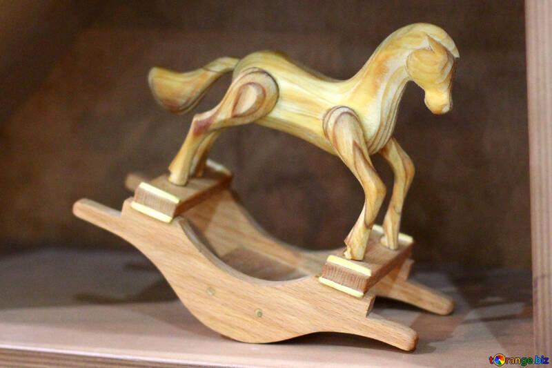 Wooden figurine horse №47083
