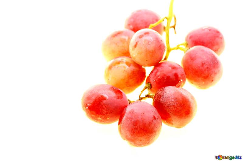 Розовый виноград изолированно на белом фоне №47271