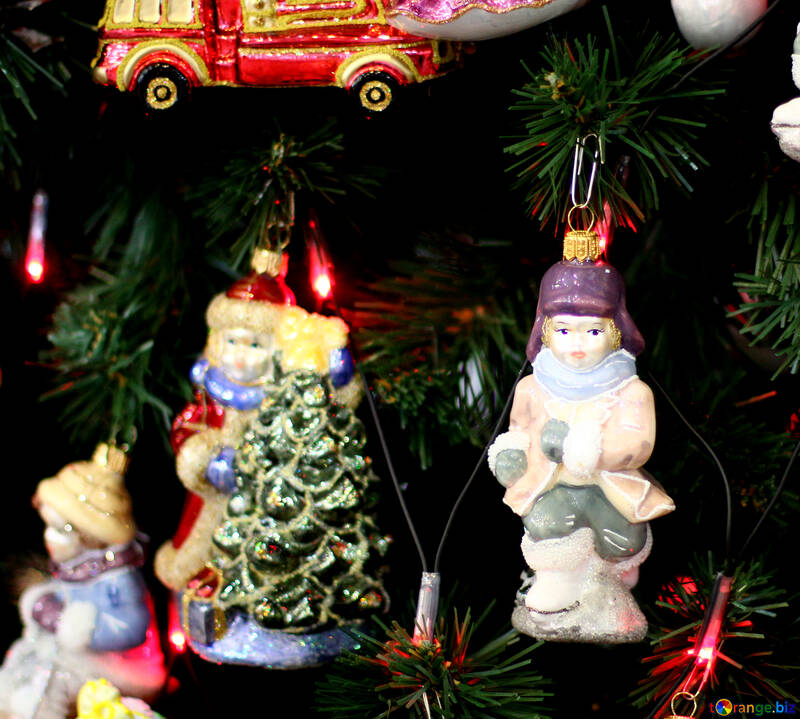 Christmas decorations in retro style №47859
