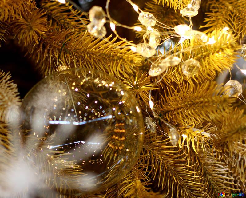 Новогодняя гирлянда из лампочек отражение №47761