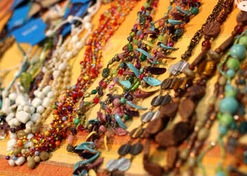 Beads of colored stones №48726