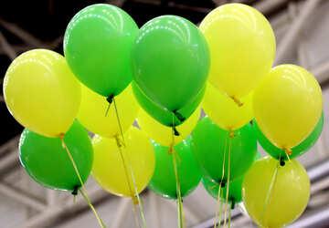 Green balloons №48850