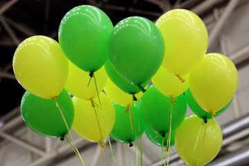 Green balloons №48851