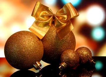 Christmas balls with reflection №48182