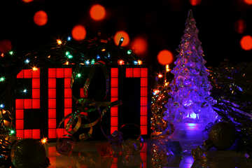 Figures 2017 Christmas picture with Christmas tree №48099