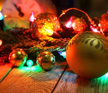 Ghirlanda di Natale su un fondo in legno №48181