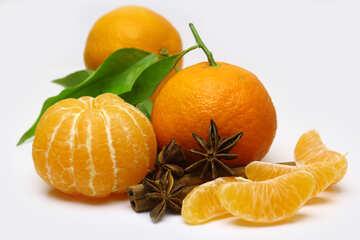 Mandarines with cinnamon №48209