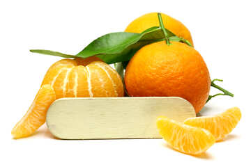 Mandarins with a blank label №48208