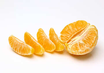 Peeled mandarin №48215