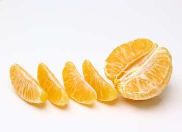 Peeled mandarin №48216