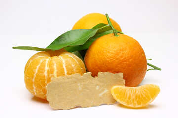 Tangerines with blank price tag №48207