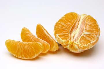 Peeled mandarin №48213