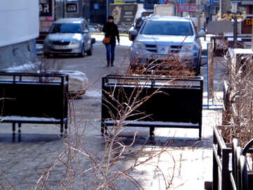 Meeting machines blocked in the city center №48499