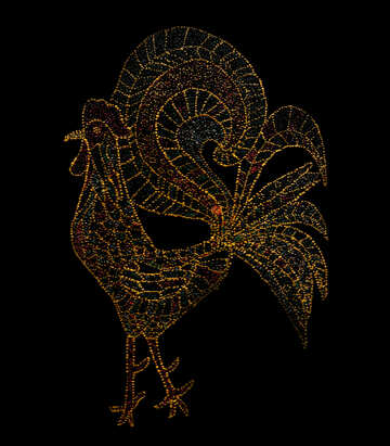 Dotted draw rooster №48243
