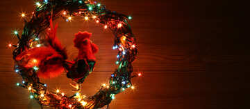 Christmas wreath with a cock background with space for text №48030