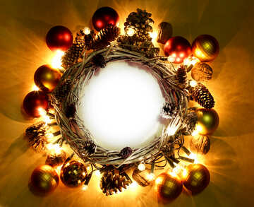 Christmas wreath background with space for text №48047