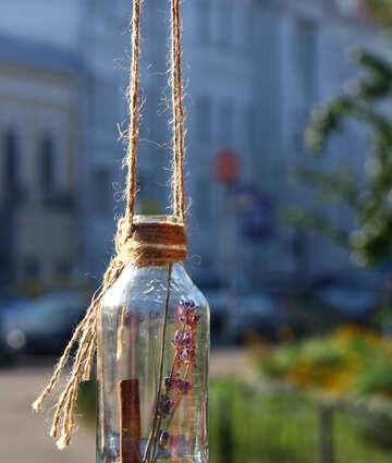 Dekoration von Glasflaschen №48346
