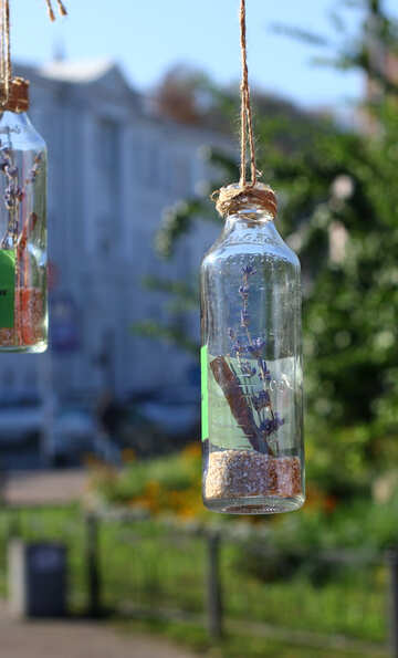 Decoration of glass bottles №48348
