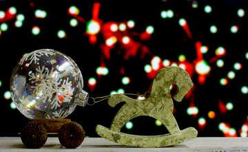 Horse toy decoupage lucky glass ball №48083