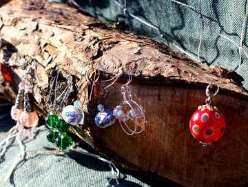 Earrings made of glass №48342