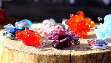 Jewellery made of glass №48344