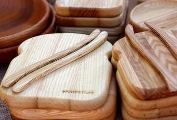 Wooden kitchen board №48411
