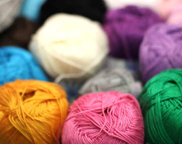 Colored thread for knitting №48908