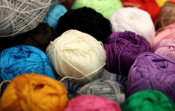 Colored thread for knitting №48909