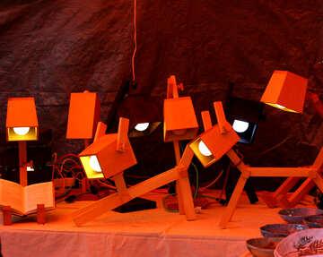 Designer lamps made of wood, animal №48308