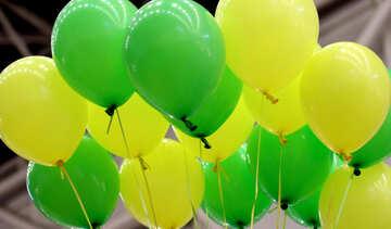 Green balloons №48849
