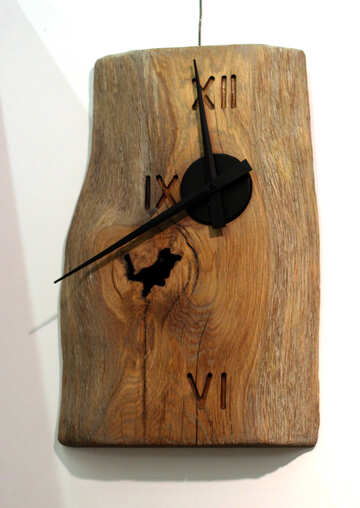 Wooden clock №48821