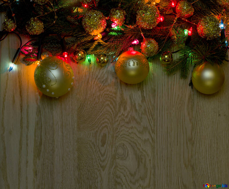 Christmas Background With Toys Christmas Wooden Background