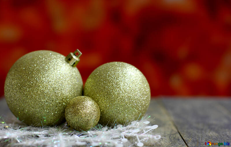 Christmas balls on the blurry background №48078