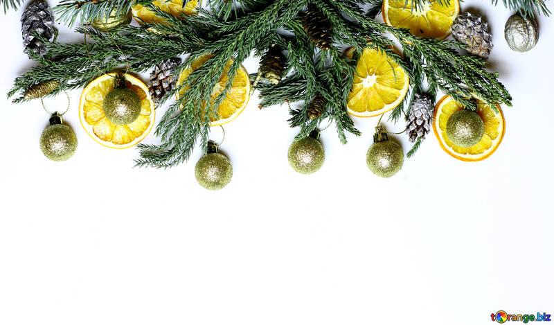 Christmas wreath with Mandarin №48203