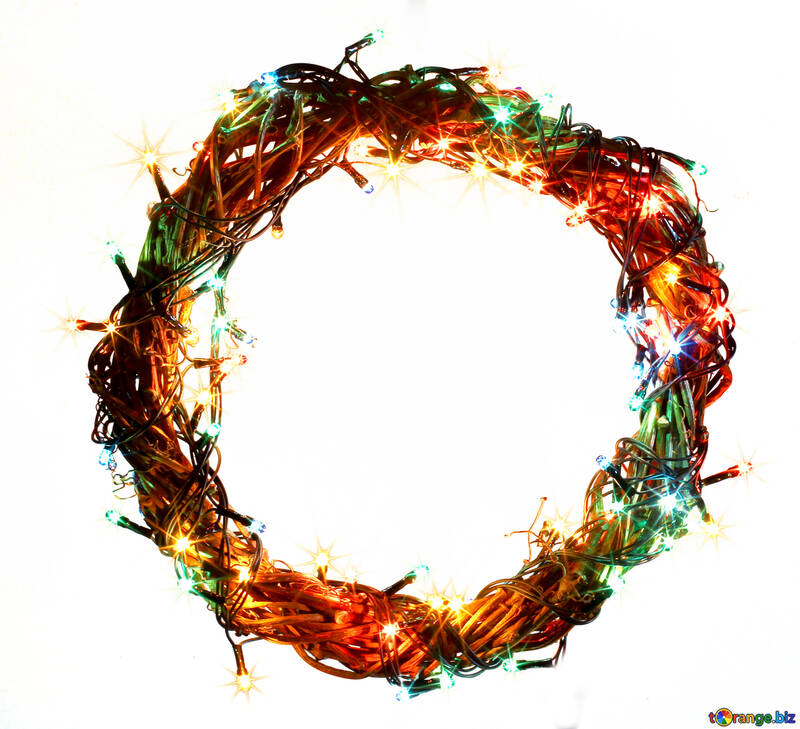 Christmas wreath with a cock background with space for text №48019