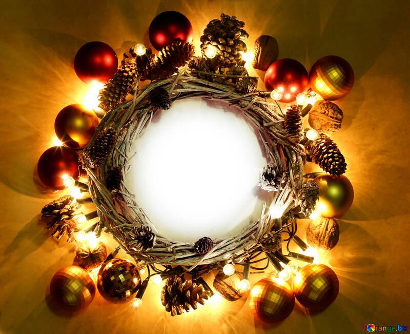 Guirnaldas de navidad fondo de la guirnalda de navidad con espacio ...