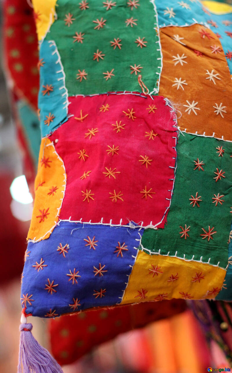 Stitched pieces of fabric. №48753