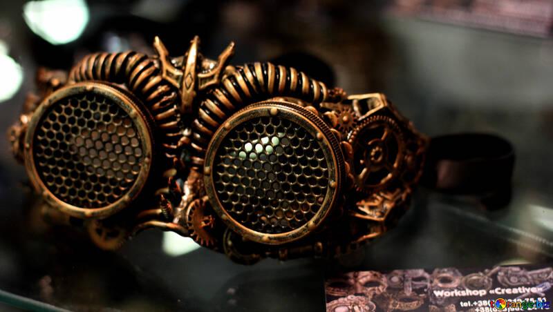 Steampunk  mask bug with large eyes №48975