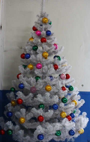 Artificial Christmas tree with toys №49471