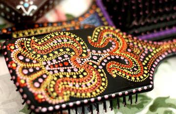 hair brush beaded embellishments №49137