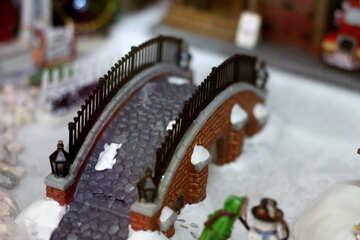 Fairy-tale Winter Bridge №49587