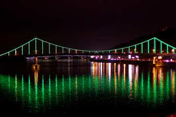 Kiev foot bridge at night №49258
