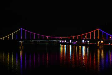 Kiev foot bridge at night №49381